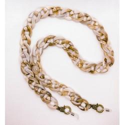 """Brillenkette """"Acryl beige"""""""